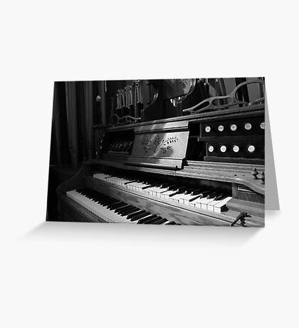 Steampunk Organ Greeting Card