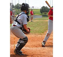 Baseball Catcher Photographic Print