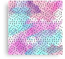 Pink, Teal, Purple, and Blue Abstract Watercolor Canvas Print