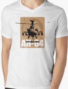 AH-64 Apache Helicopter Mens V-Neck T-Shirt