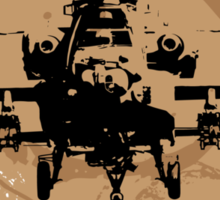 AH-64 Apache Helicopter Sticker