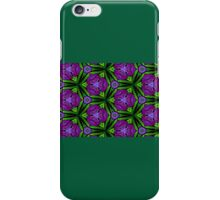 At Night the Purple Violets Bloom iPhone Case/Skin