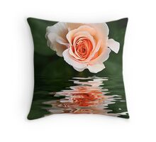 Peach Ripple Throw Pillow