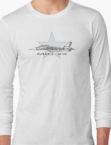MIG-29 Soviet Fighter Long Sleeve T-Shirt