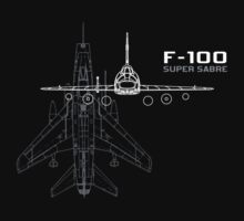 F-100 Super Sabre by miirimage