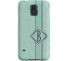 1920s Blue Deco Swing with Monogram letter B Samsung Galaxy Case/Skin
