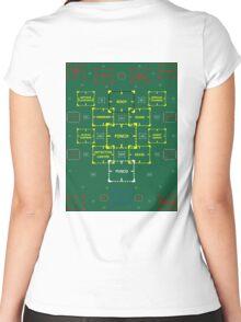 The Machine in Progress Updated Sticker Alternative Women's Fitted Scoop T-Shirt