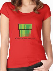 This is not a pipe. Women's Fitted Scoop T-Shirt