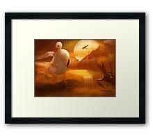 A Stork's Precious Load Framed Print