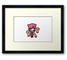 elfen lied lucy chibi anime shirt Framed Print