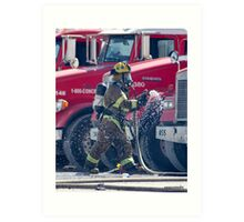 Fireman Las Vegas Art Print