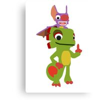 Yooka-Laylee Vector (no outlines) Canvas Print