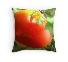 My Hanging Tomato  Throw Pillow