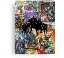 Justice League Silhouette Canvas Print