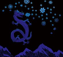 Northern Lights Dragon by SusanSanford