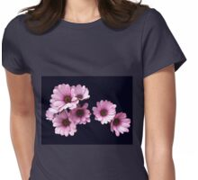 Plethora of Pink Petals - Daisy Delight Womens Fitted T-Shirt