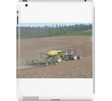 Planting on the farm iPad Case/Skin