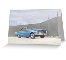 Blue Ford Falcon XP Coupe Greeting Card