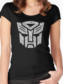 Transformer Autobots White Women's Fitted Scoop T-Shirt