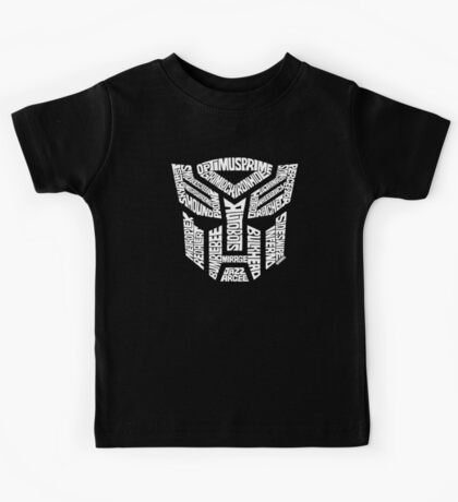 Transformer Autobots White Kids Tee