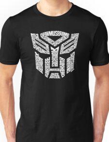 Transformer Autobots White Unisex T-Shirt