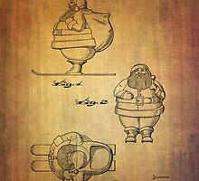 Santa Claus vintage toy patent from 1948 by Eti Reid
