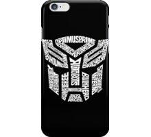 Transformer Autobots White iPhone Case/Skin