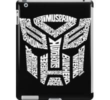 Transformer Autobots White iPad Case/Skin