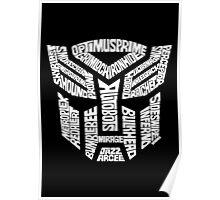 Transformer Autobots White Poster