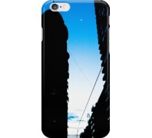 The moon between the buildings iPhone Case/Skin