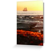 Sailing into the Broome sunset Greeting Card