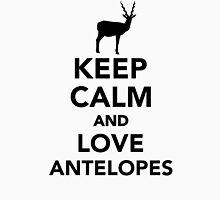 Keep calm and love antelopes Unisex T-Shirt