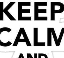 Keep calm and love antelopes Sticker
