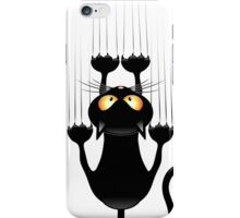 cat haning on iPhone Case/Skin