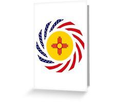 New Mexican Murican Patriot Flag Series Greeting Card