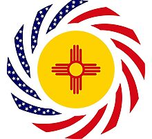 New Mexican Murican Patriot Flag Series Photographic Print