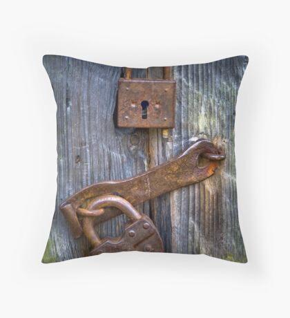 Old Locks Throw Pillow