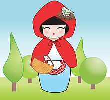 Kokeshi Little red riding hood by Pendientera