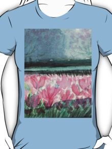 SPIRIT OF SPRING - ENCHANTED PINK TULIP-FIELD in the Park T-Shirt