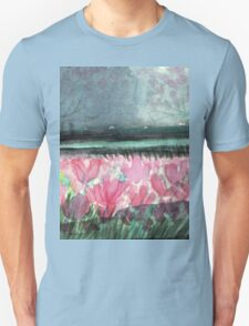 SPIRIT OF SPRING - ENCHANTED PINK TULIP-FIELD in the Park Unisex T-Shirt