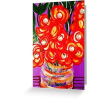 Bloomin Brit Designer Fashion By Octavious Sage  Greeting Card
