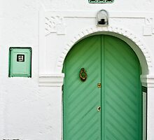 Green Door, White Wall by eyeshoot