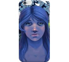 Blue Wallpaper and Birds iPhone Case/Skin