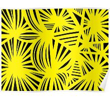 Freshley Abstract Expression Yellow Black Poster