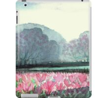 SPIRIT OF SPRING - ENCHANTED PINK TULIP-FIELD in the Park iPad Case/Skin