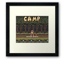 Camp: Bonfire Framed Print