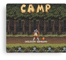 Camp: Bonfire Canvas Print