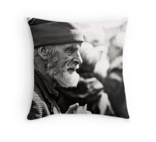 street candid__eyebrow kung-fu Throw Pillow