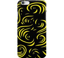 Mcclintock Abstract Expression Yellow Black iPhone Case/Skin