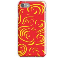 Franco Abstract Expression Yellow Red iPhone Case/Skin